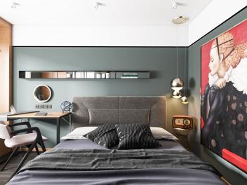 北欧卧室全景模型
