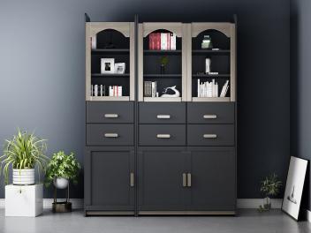 客厅省空间小宝宝男孩女孩多功能松木全实木儿童书柜书架组合ED1X柜子模型