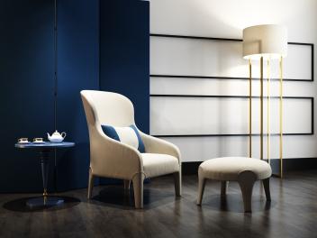 现代单人椅组合模型
