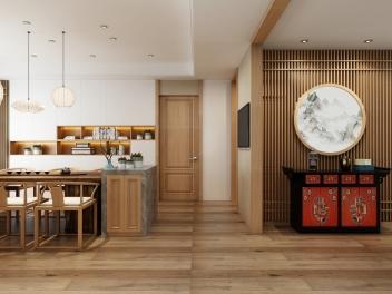 日式玄关餐厅模型