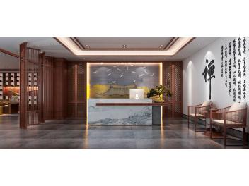 中式会议室会客厅模型