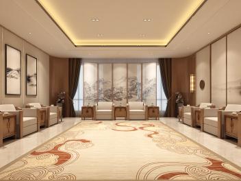 中式会议接待室模型