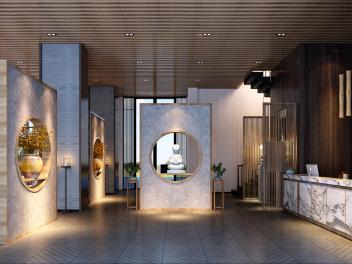 茶楼大厅模型