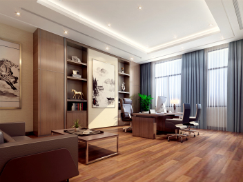 中式经理室模型
