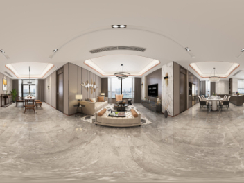 现代风格客餐厅模型
