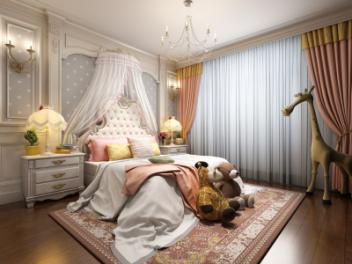 欧式女孩房模型