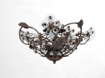 美式树叶吊灯模型