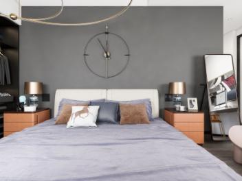现代轻奢卧室全景模型