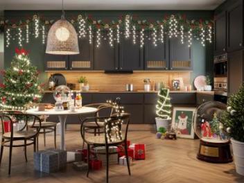 北欧圣诞节主题餐厅模型