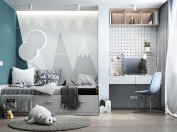 北欧风格儿童房模型