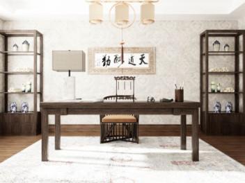 中式书桌椅模型