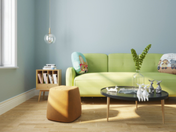 北欧沙发茶几组合模型