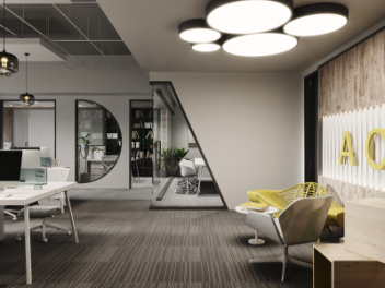 现代办公室会议室经理室模型