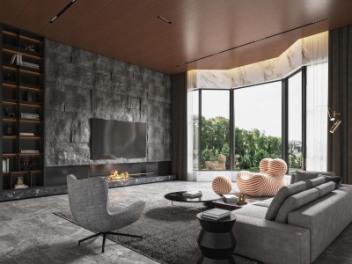现代台式客厅模型