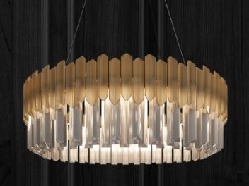 现代水晶吊灯模型