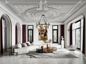 法式客厅模型