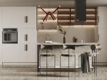 现代开放式厨房模型