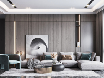 现代客厅模型