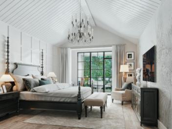 美式卧室庭院模型