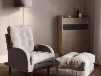 现代休闲椅单人沙发模型