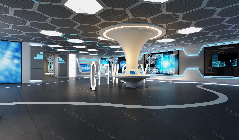 科技展馆模型