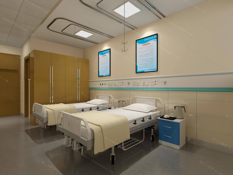 医院病房模型