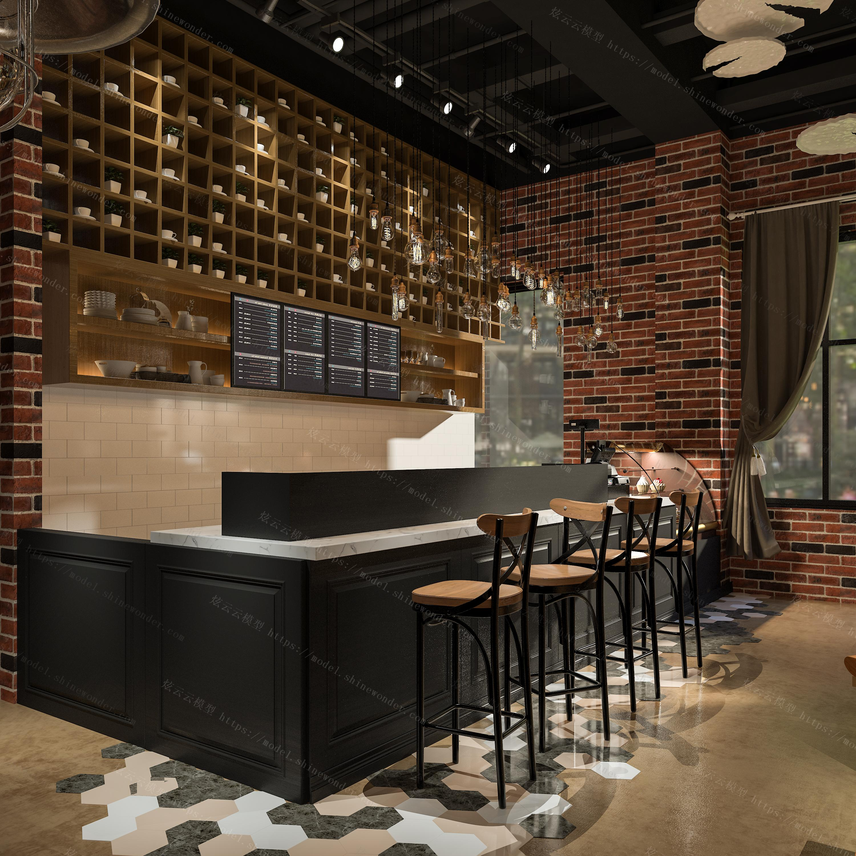 咖啡厅模型