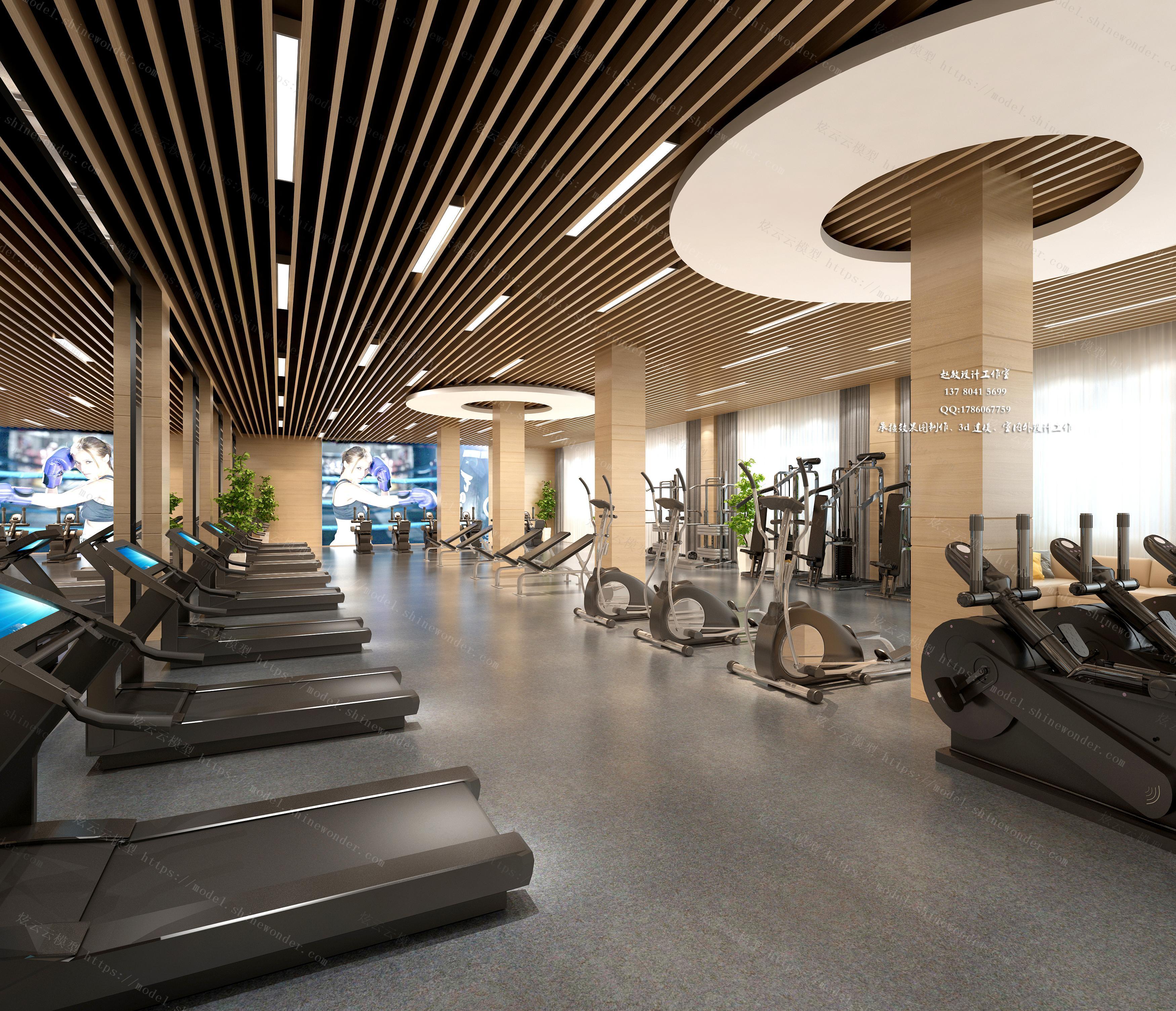 健身房模型