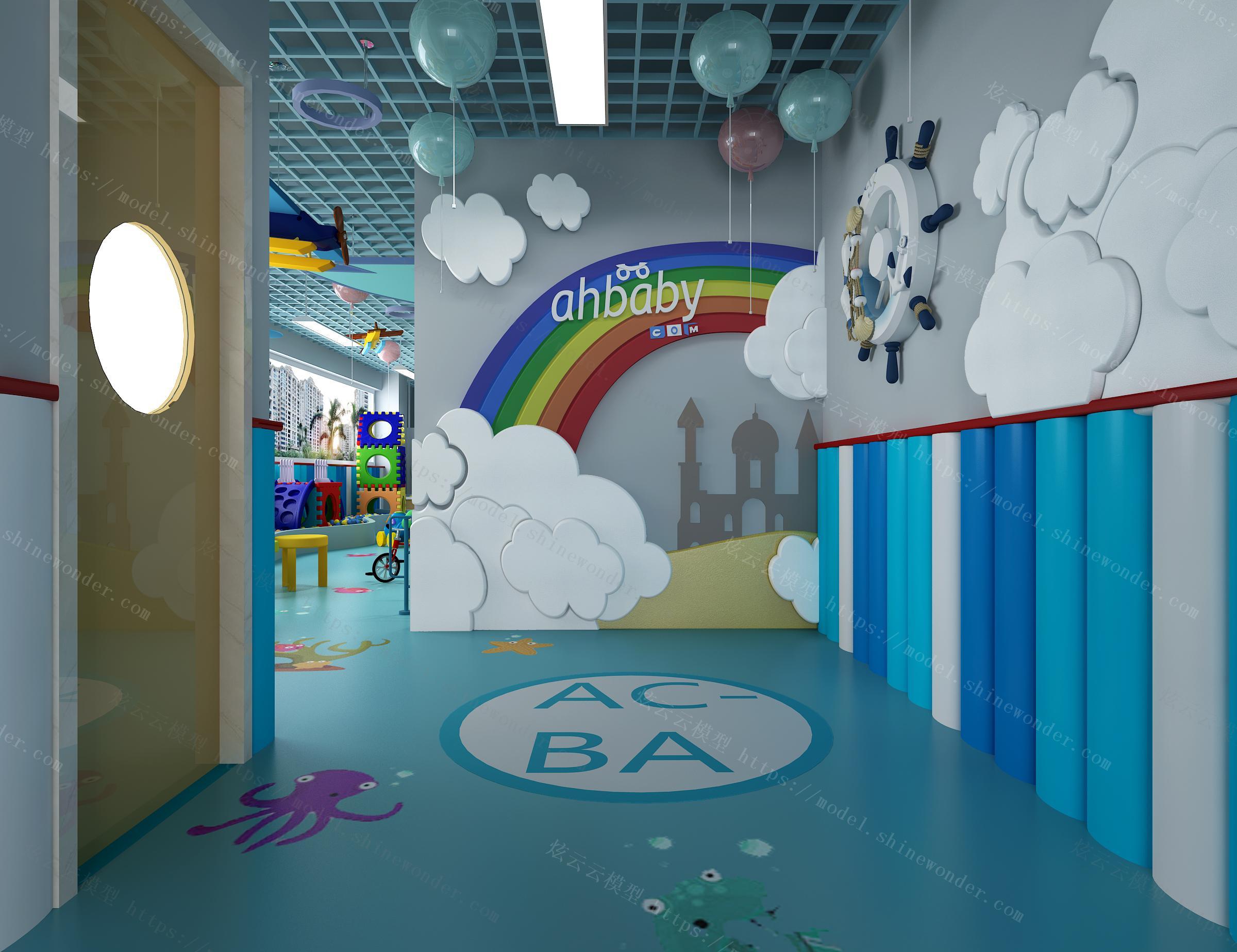 儿童室内游乐园模型