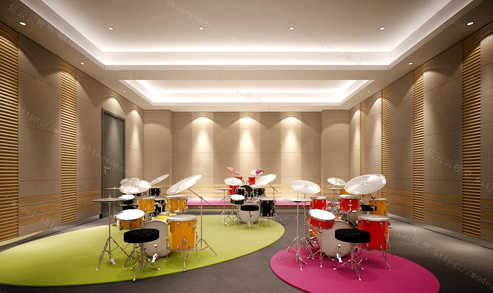 音乐培训室模型