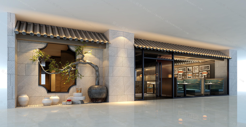 餐厅门头模型