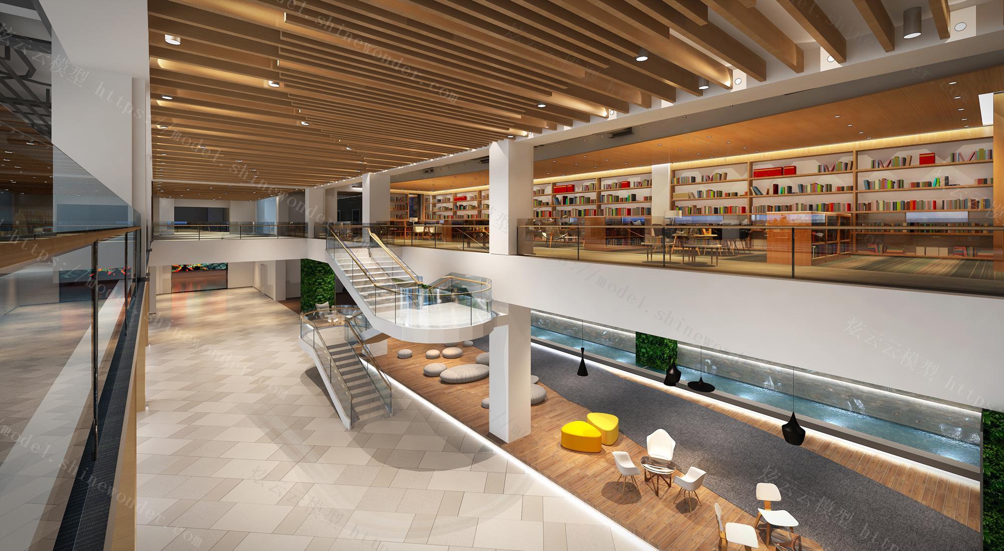 学校图书馆模型