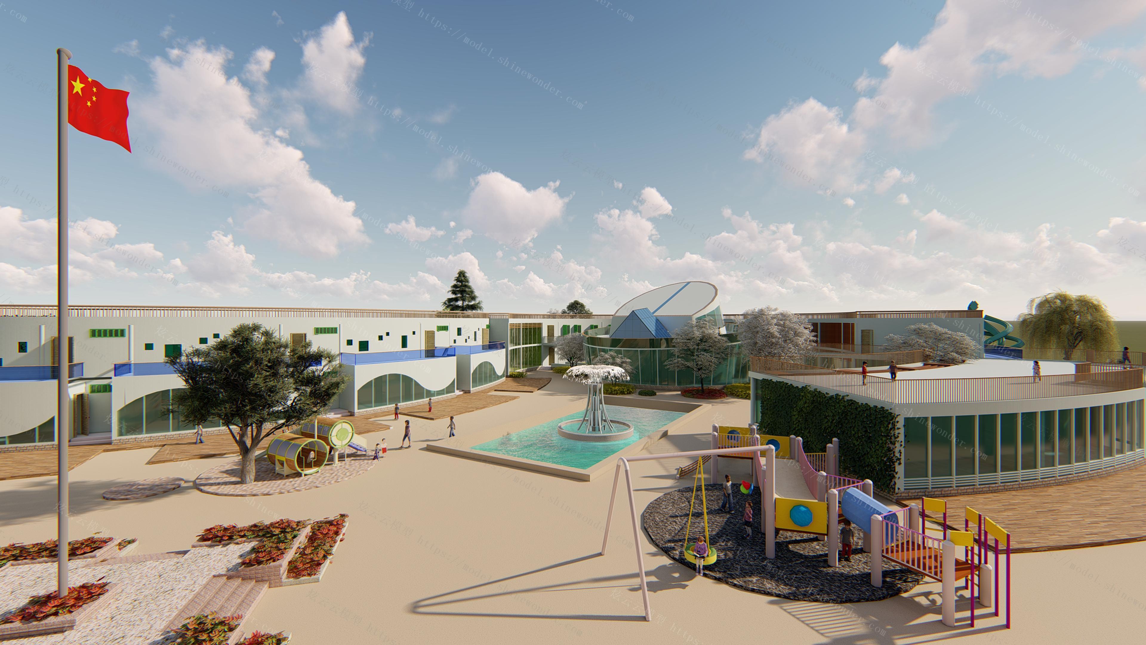 幼儿园室外景观模型