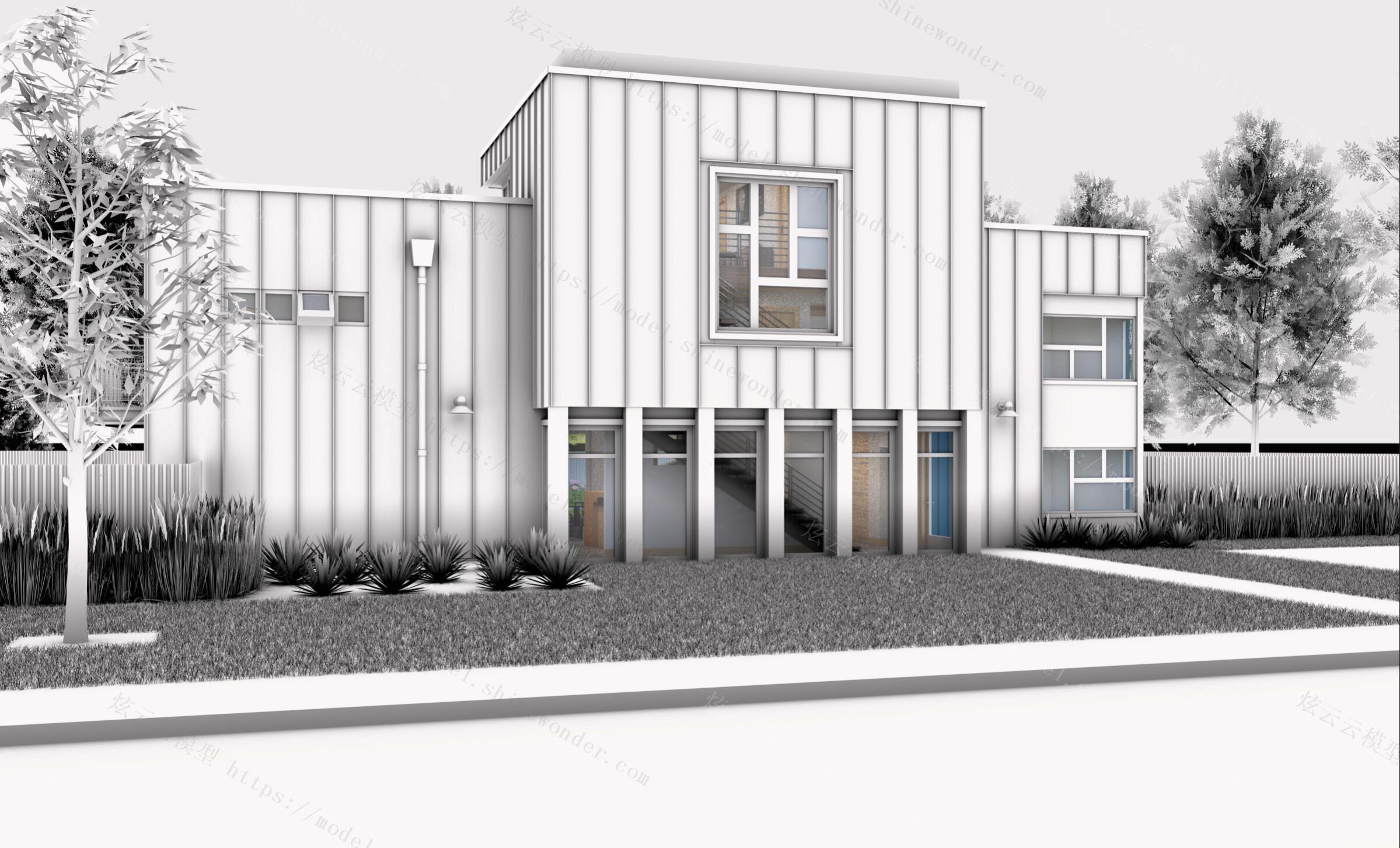 集装箱别墅模型
