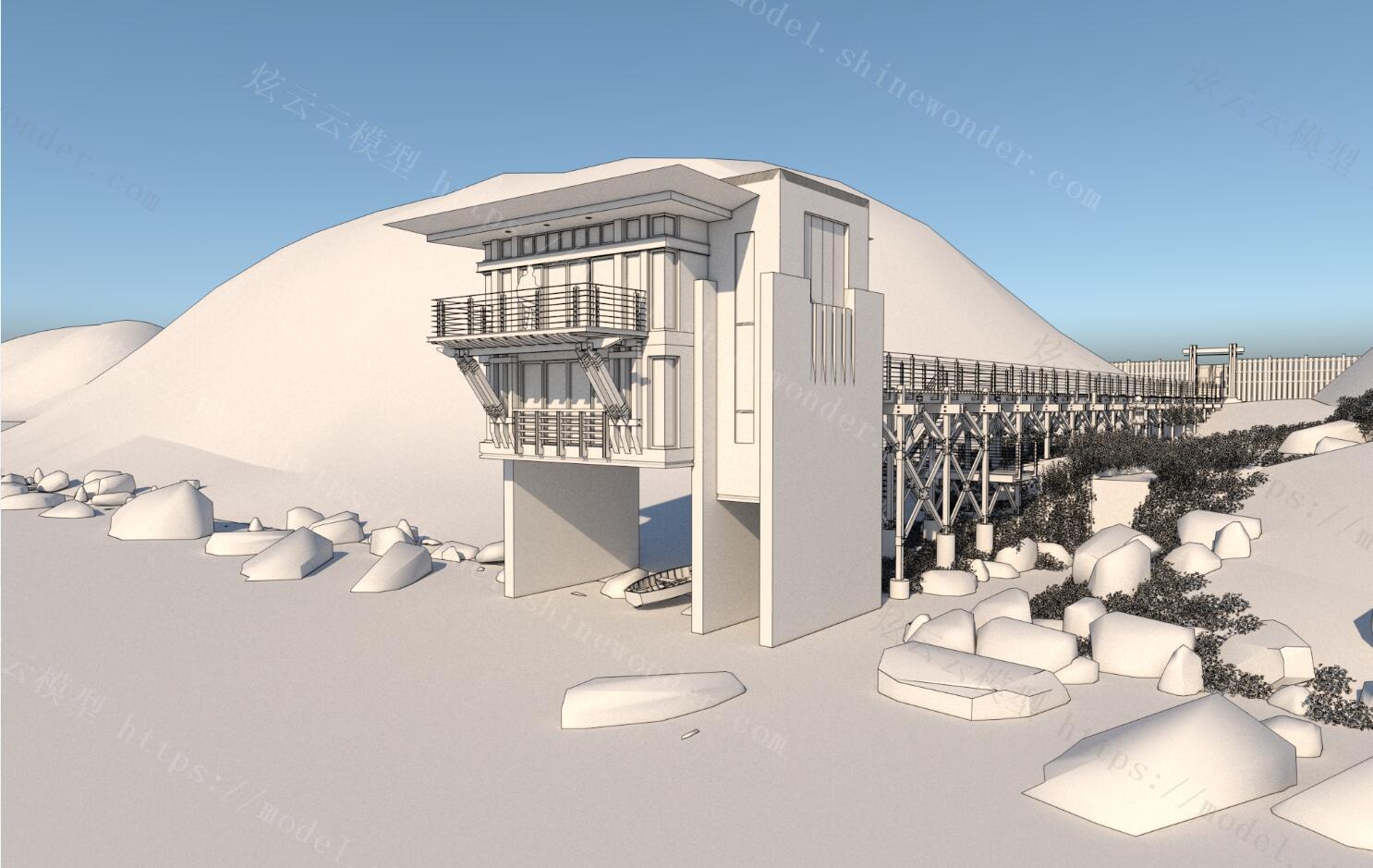 别墅外立面模型