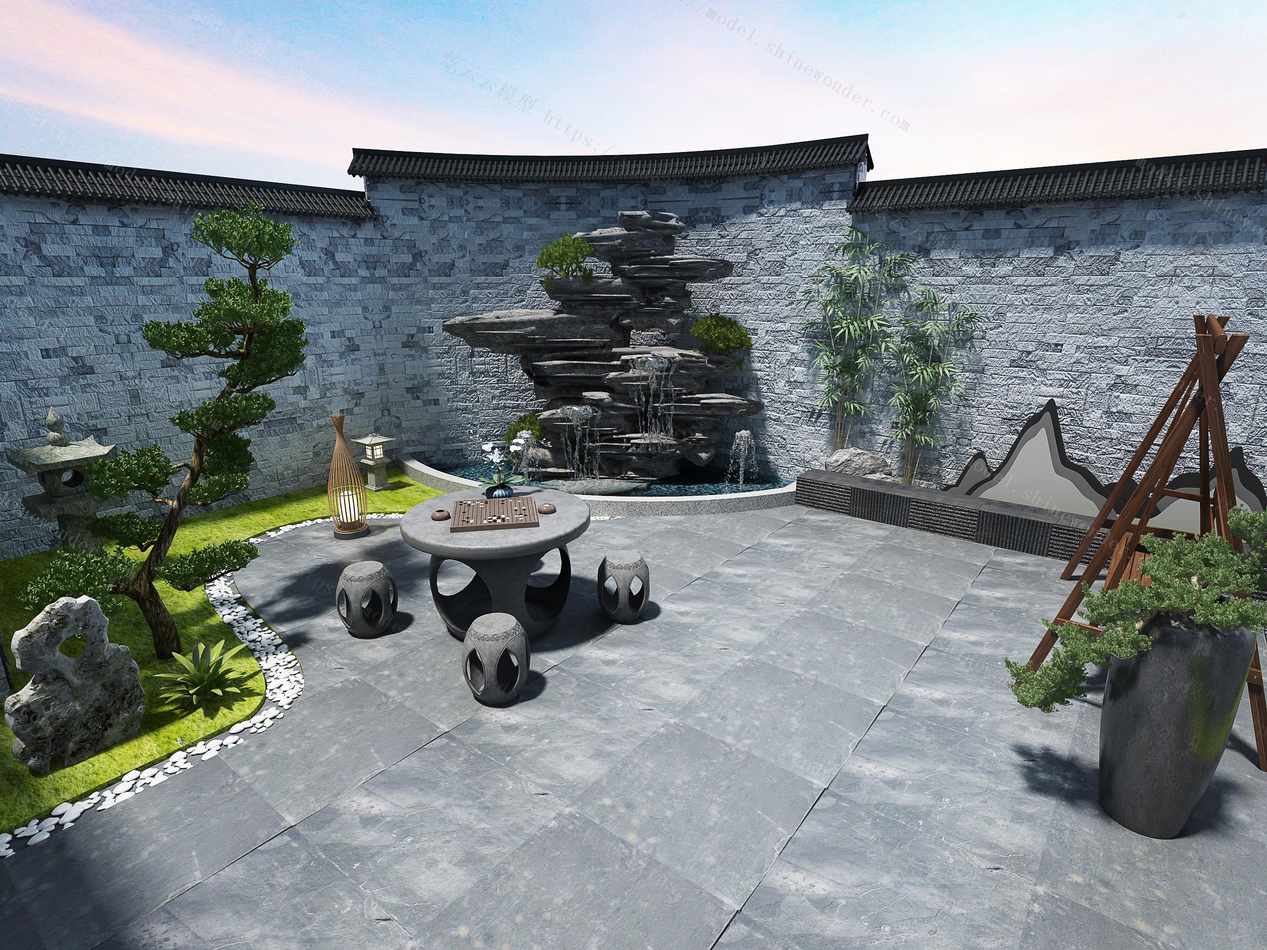 室外景观模型