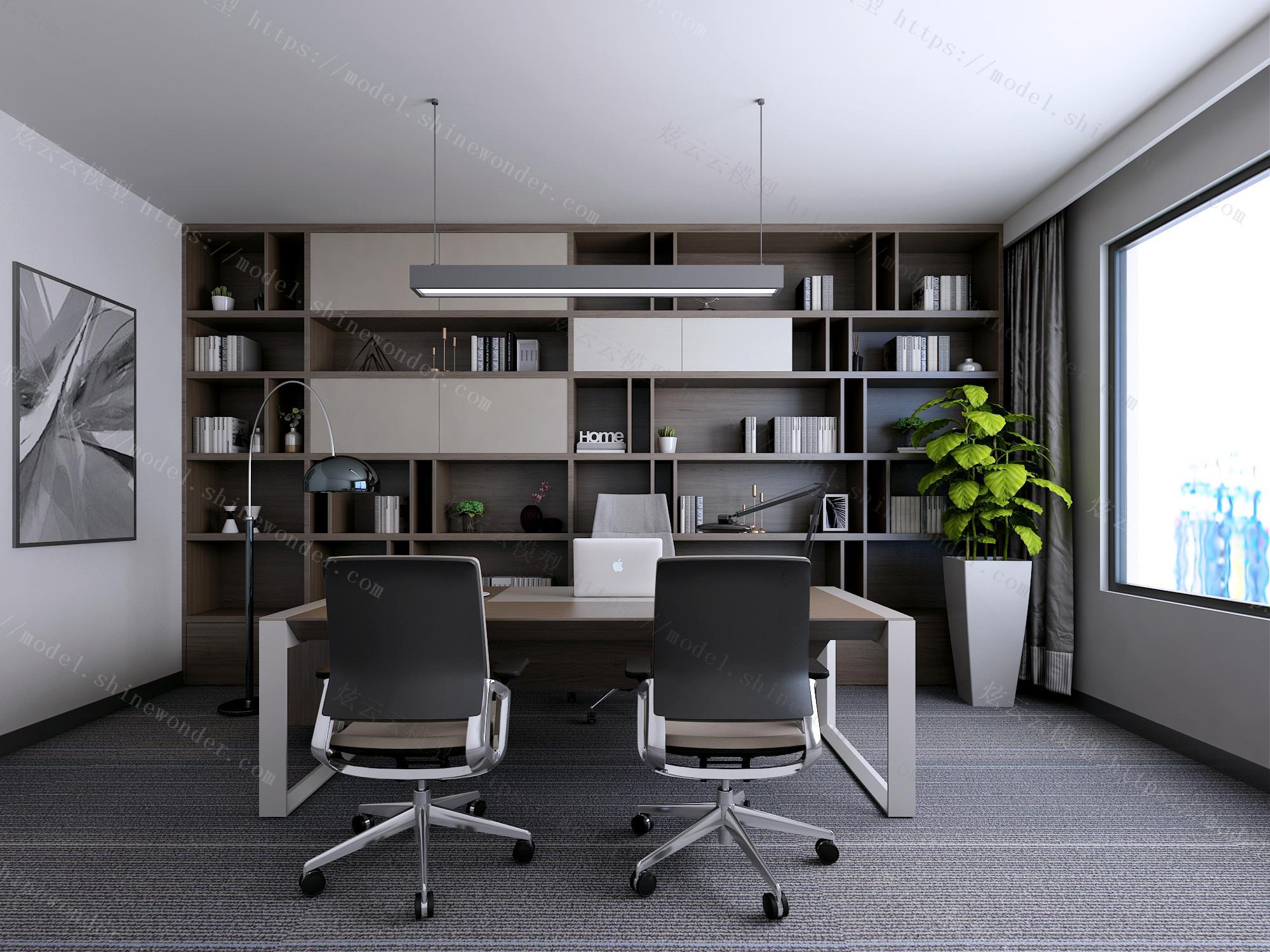 现代经理室模型