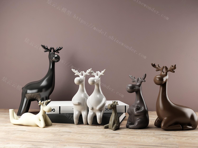 骚气的鹿模型