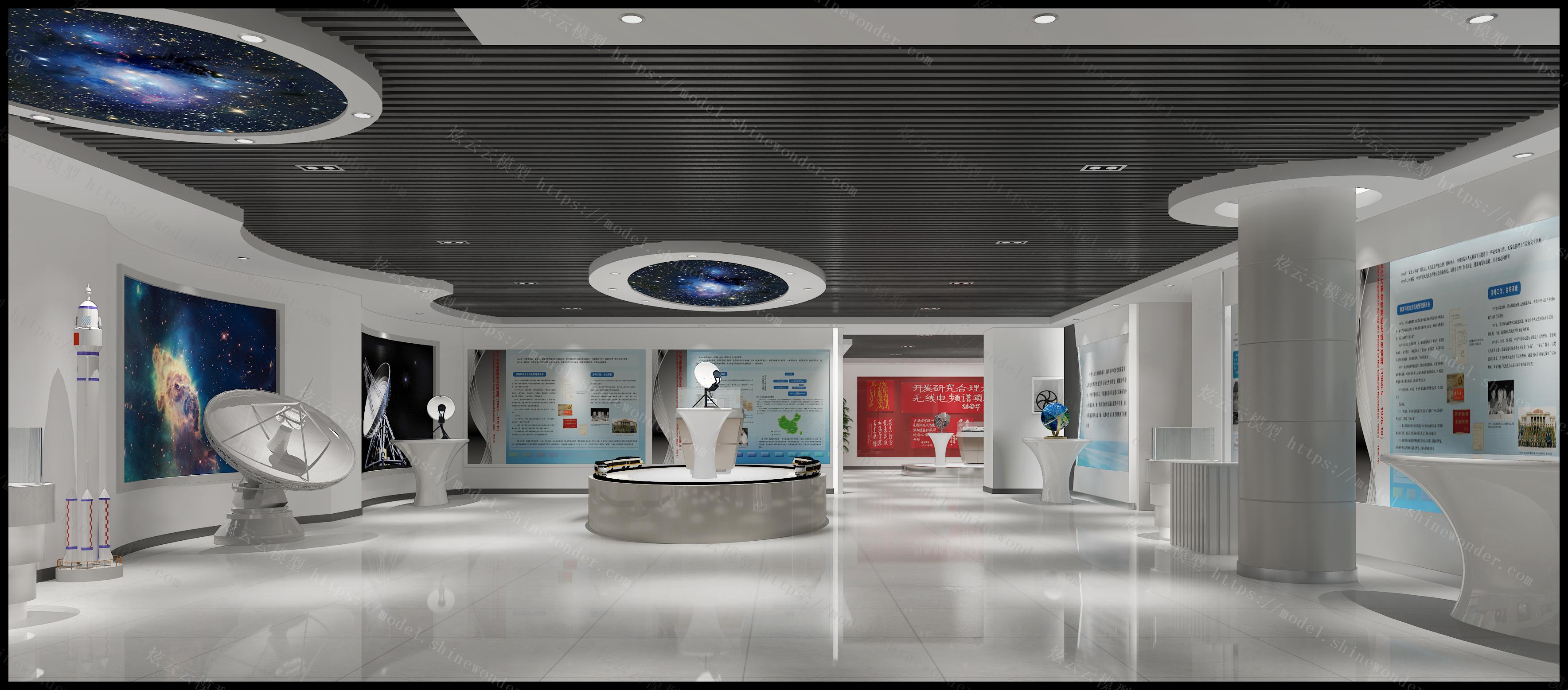 无线电展厅模型
