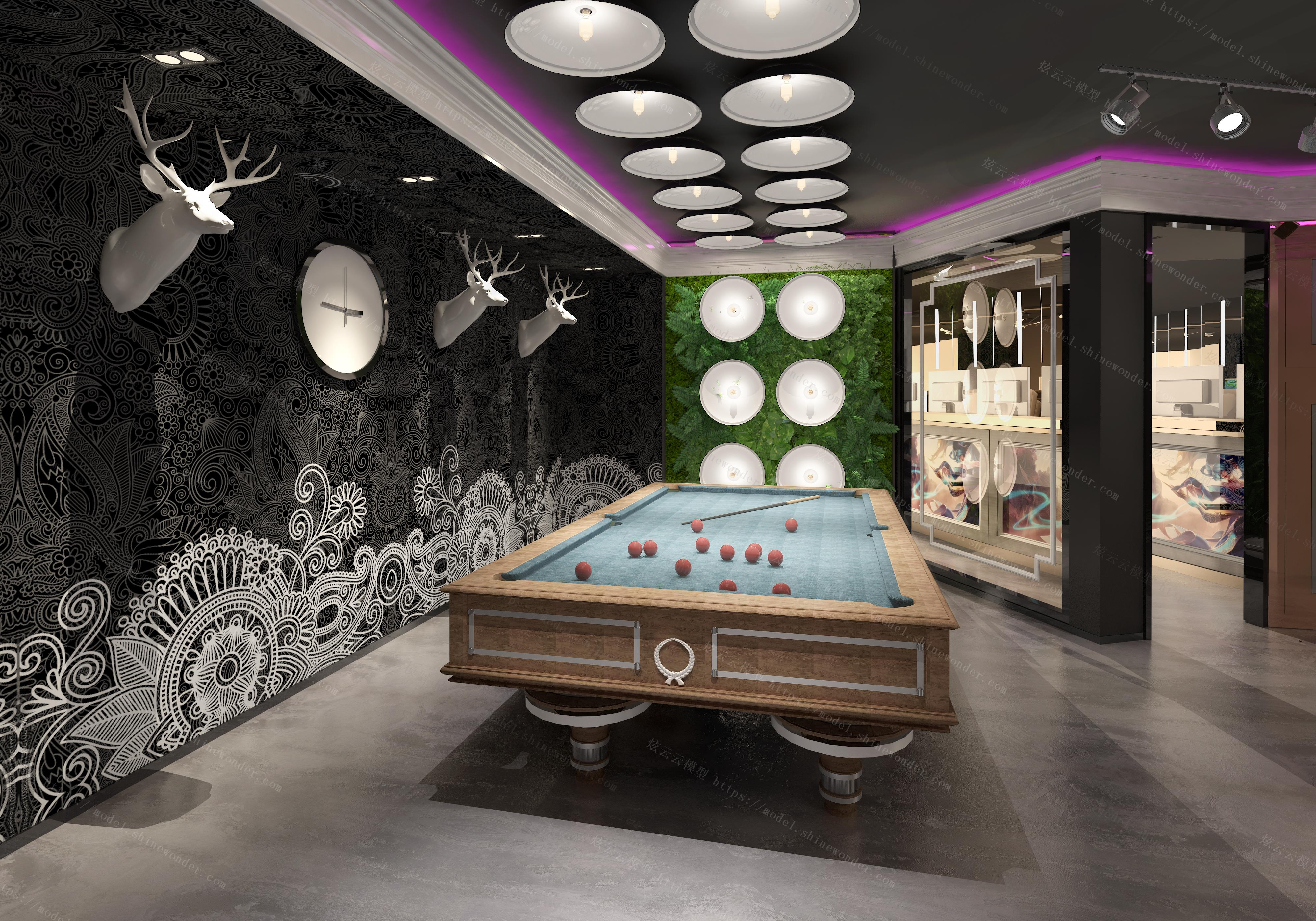 桌球室模型