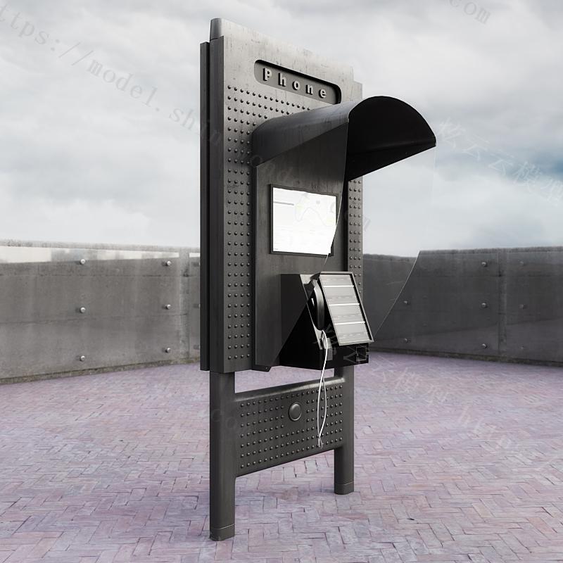 创意室外电话等候亭模型
