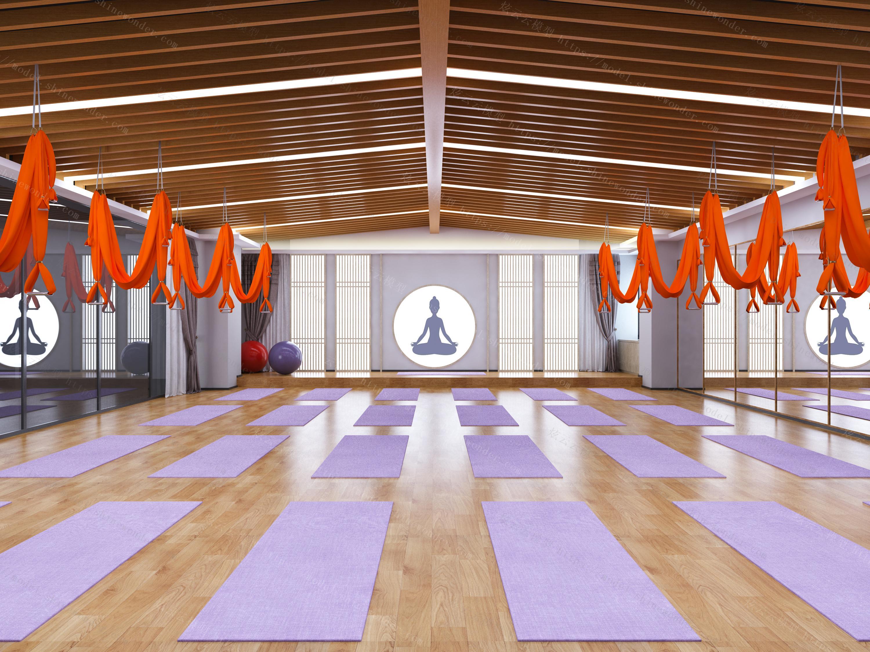 瑜伽舞蹈教室模型
