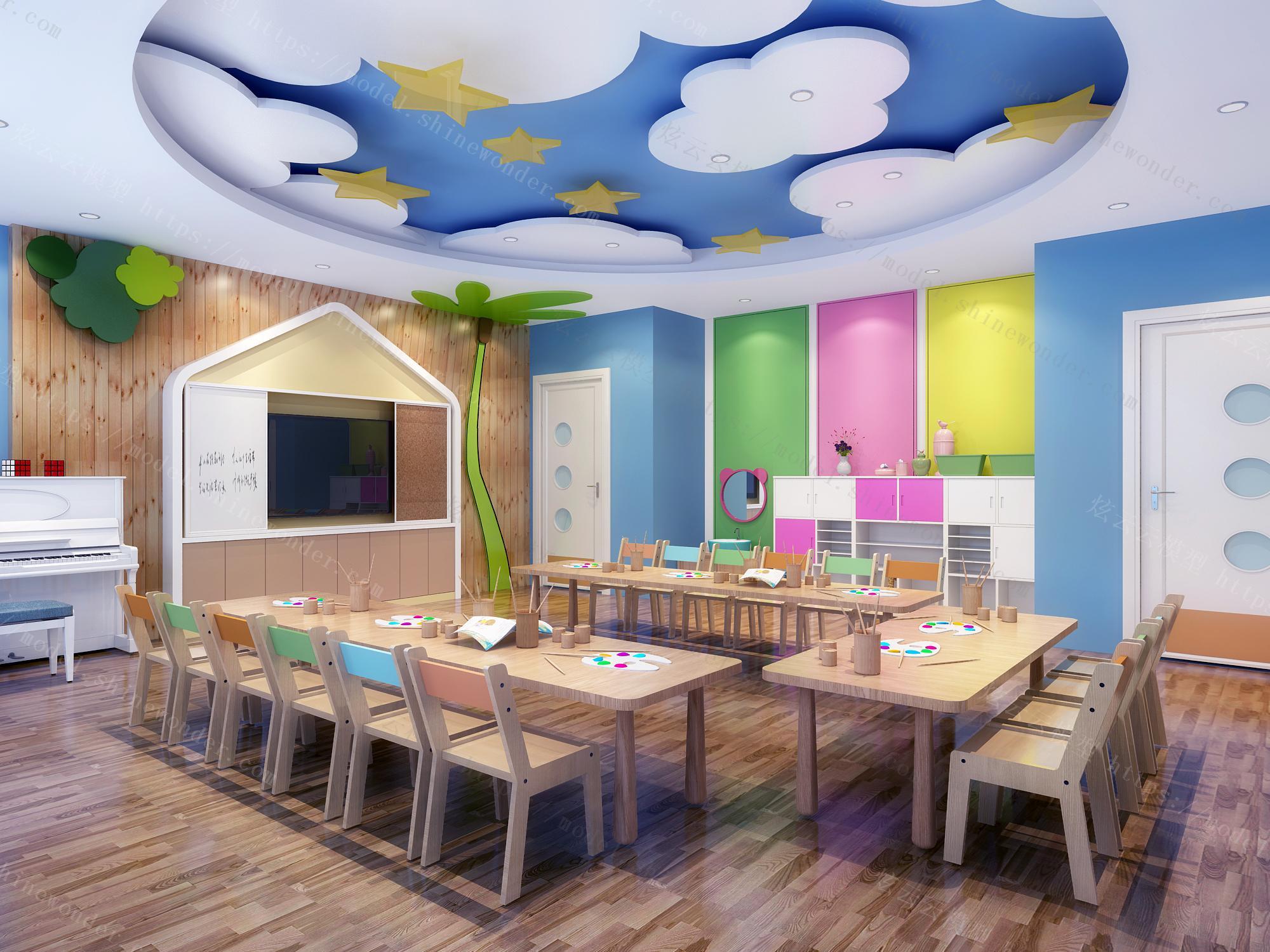 幼儿园教室模型