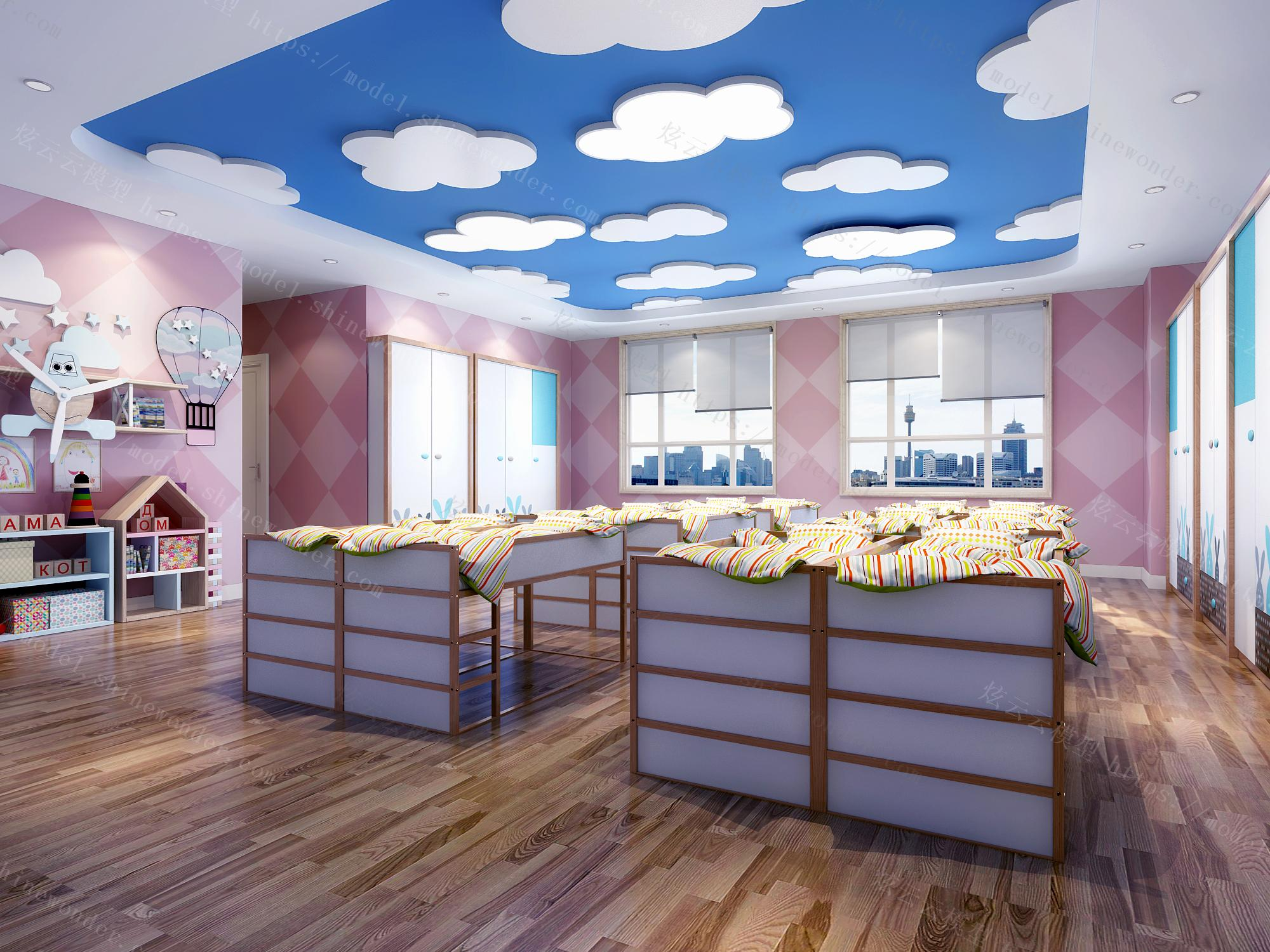 幼儿园育婴室模型