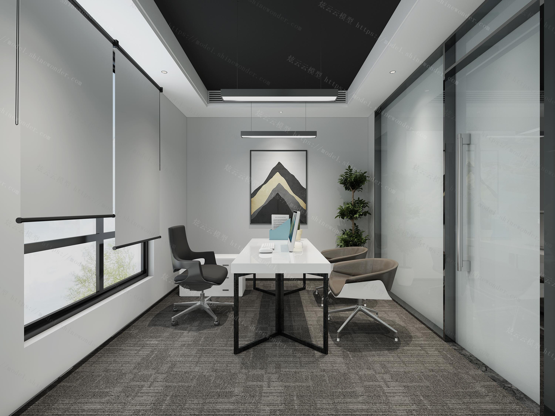 现代办公会议室模型