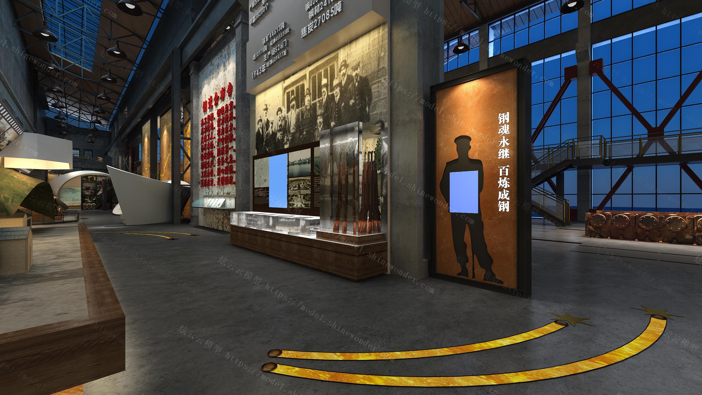 现代博物馆模型