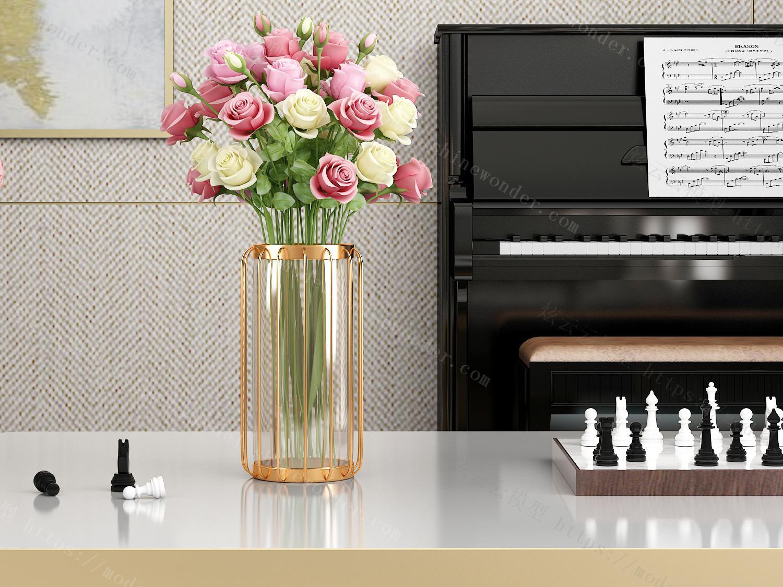现代花瓶装饰摆件模型