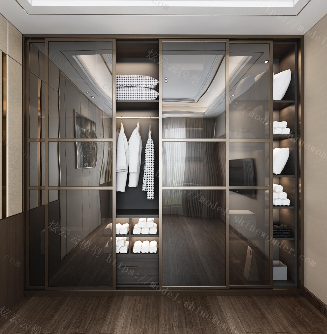 现代衣柜模型