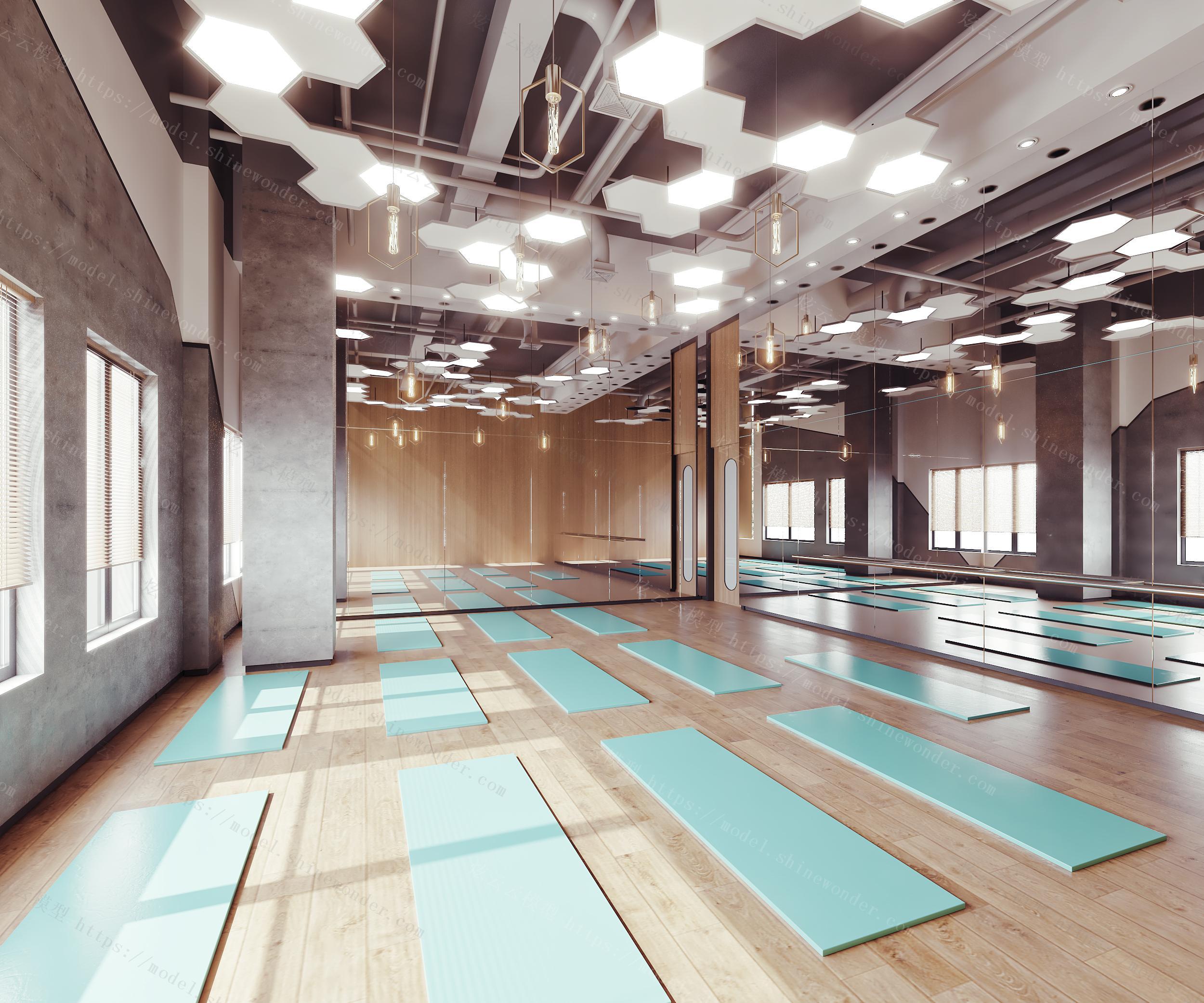 现代瑜伽教室模型