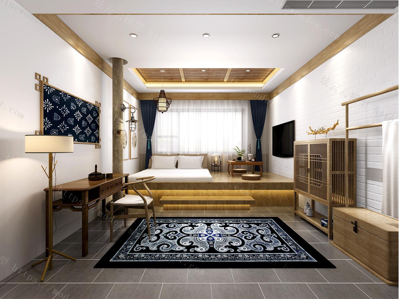民宿酒店客房模型